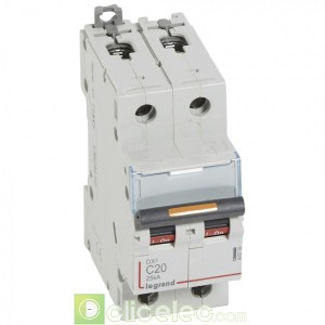 DX3 2P C20 25KA 409769 Legrand Disjoncteurs PH+N