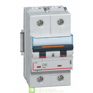 DX3 2P C40 25KA 409772 Legrand Disjoncteurs PH+N