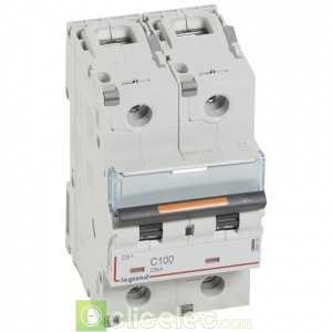 DX3 2P C100 25KA 409776 Legrand Disjoncteurs PH+N