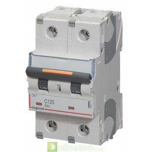 DX3 2P C125 25KA 409777 Legrand Disjoncteurs PH+N
