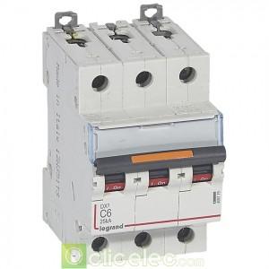 DX3 3P C6 25KA 409779 Legrand Disjoncteurs PH+N