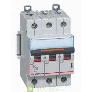 DX3 3P C20 25KA 409782 Legrand Disjoncteurs PH+N