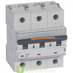 DX3 3P C40 25KA 409785 Legrand Disjoncteurs PH+N
