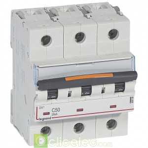DX3 3P C50 25KA 409786 Legrand Disjoncteurs PH+N
