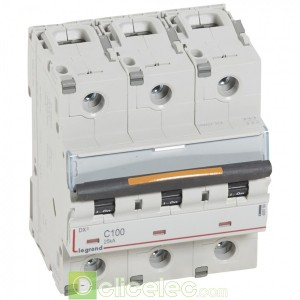 DX3 3P C100 25KA 409789 Legrand Disjoncteurs PH+N
