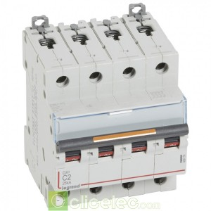 DX3 4P C2 25KA 409791 Legrand Disjoncteurs PH+N