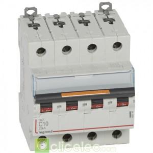 DX3 4P C10 25KA 409793 Legrand Disjoncteurs PH+N