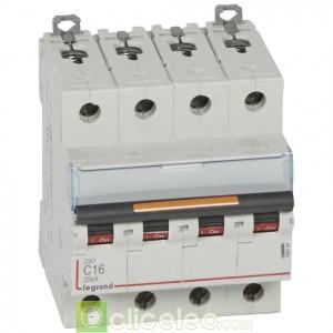 DX3 4P C16 25KA 409794 Legrand Disjoncteurs PH+N