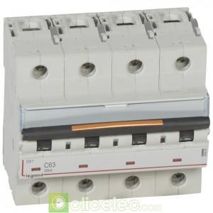 DX3 4P C63 25KA 409800 Legrand Disjoncteurs PH+N