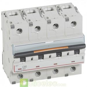 DX3 4P C80 25KA 409801 Legrand Disjoncteurs PH+N