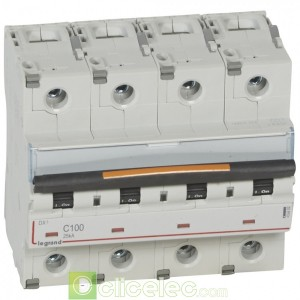 DX3 4P C100 25KA 409802 Legrand Disjoncteurs PH+N