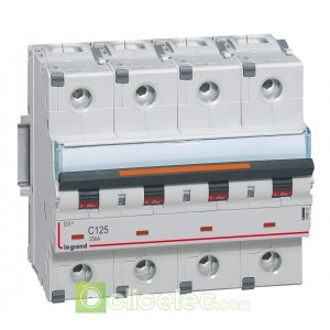 DX3 4P C125 25KA 409803 Legrand Disjoncteurs PH+N