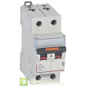 DX3 2P D25 25KA 409822 Legrand Disjoncteurs PH+N