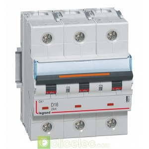 DX3 3P D16 25KA 409833 Legrand Disjoncteurs PH+N