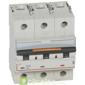 DX3 3P D32 25KA 409836 Legrand Disjoncteurs PH+N