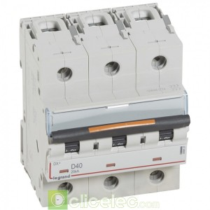DX3 3P D40 25KA 409837 Legrand Disjoncteurs PH+N