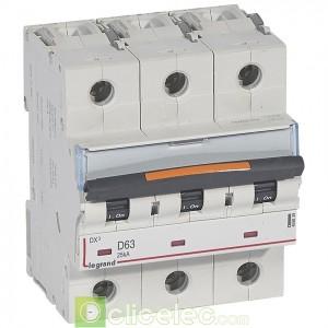 DX3 3P D63 25KA 409839 Legrand Disjoncteurs PH+N