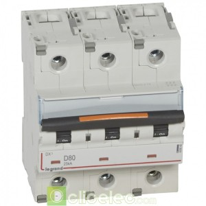DX3 3P D80 25KA 409840 Legrand Disjoncteurs PH+N