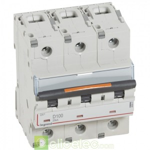 DX3 3P D100 25KA 409841 Legrand Disjoncteurs PH+N