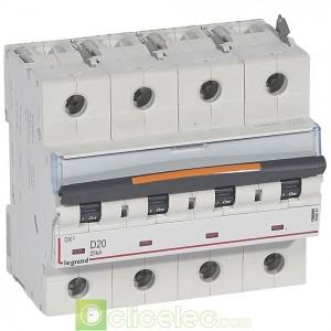 DX3 4P D20 25KA 409847 Legrand Disjoncteurs PH+N