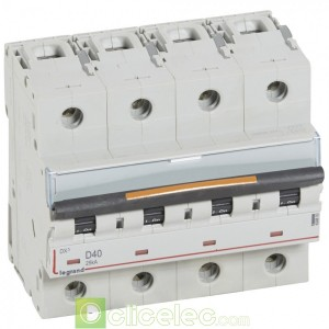 DX3 4P D40 25KA 409850 Legrand Disjoncteurs PH+N
