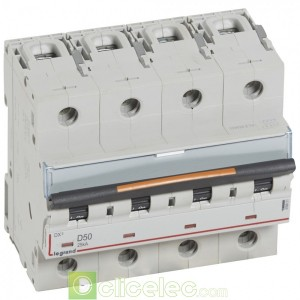 DX3 4P D50 25KA 409851 Legrand Disjoncteurs PH+N