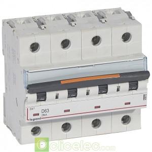 DX3 4P D63 25KA 409852 Legrand Disjoncteurs PH+N