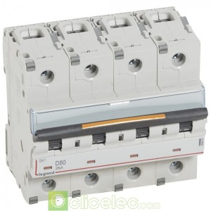 DX3 4P D80 25KA 409853 Legrand Disjoncteurs PH+N