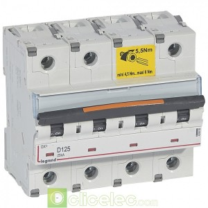 DX3 4P D125 25KA 409855 Legrand Disjoncteurs PH+N