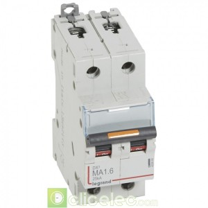DX3 2P MA1.6 25KA 409866 Legrand Disjoncteurs PH+N
