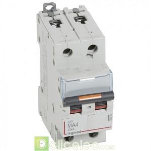 DX3 2P MA4 25KA 409868 Legrand Disjoncteurs PH+N