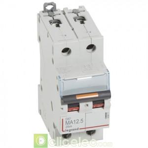DX3 2P MA12.5 25KA 409871 Legrand Disjoncteurs PH+N
