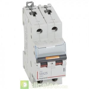 DX3 2P MA25 25KA 409873 Legrand Disjoncteurs PH+N