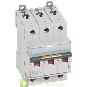 DX3 3P MA2.5 25KA 409877 Legrand Disjoncteurs PH+N