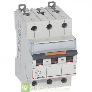 DX3 3P MA4 25KA 409878 Legrand Disjoncteurs PH+N
