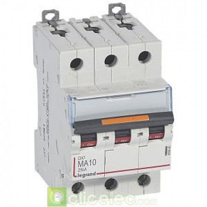 DX3 3P MA10 25KA 409880 Legrand Disjoncteurs PH+N