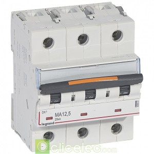 DX3 3P MA12.5 25KA 409881 Legrand Disjoncteurs PH+N