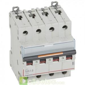 DX3 4P MA1.6 25KA 409886 Legrand Disjoncteurs PH+N
