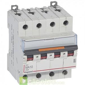 DX3 4P MA10 25KA 409890 Legrand Disjoncteurs PH+N