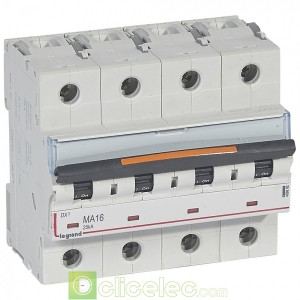 DX3 4P MA16 25KA 409892 Legrand Disjoncteurs PH+N