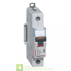 DX3 1P Z16 25KA 409902 Legrand Disjoncteurs PH+N