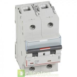 DX3 2P C32 36KA 410011 Legrand Disjoncteurs PH+N