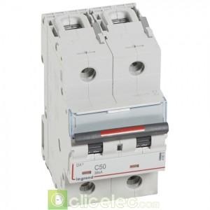 DX3 2P C50 36KA 410013 Legrand Disjoncteurs PH+N