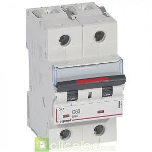DX3 2P C63 36KA 410014 Legrand Disjoncteurs PH+N