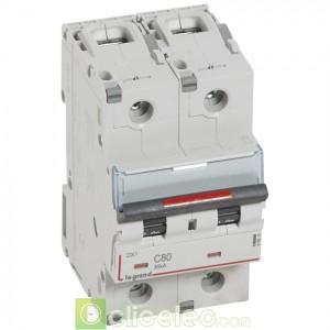 DX3 2P C80 36KA 410015 Legrand Disjoncteurs PH+N