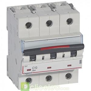 DX3 3P C10 36KA 410020 Legrand Disjoncteurs PH+N