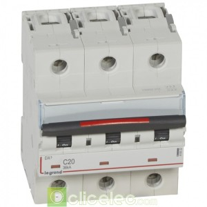 DX3 3P C20 36KA 410022 Legrand Disjoncteurs PH+N
