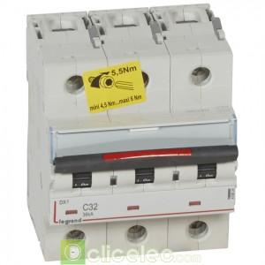 DX3 3P C32 36KA 410024 Legrand Disjoncteurs PH+N