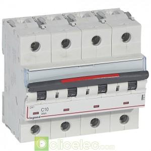 DX3 4P C10 36KA 410033 Legrand Disjoncteurs PH+N
