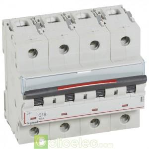 DX3 4P C16 36KA 410034 Legrand Disjoncteurs PH+N